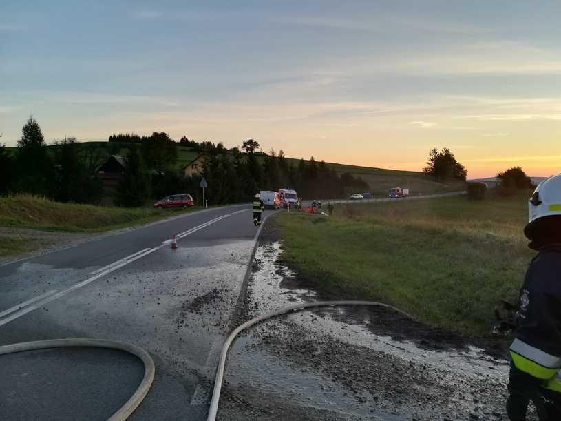 RMF: Auto płonęło. Kierowca nie mógł się wydostać
