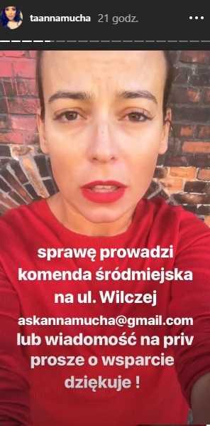 Oskarżony przez Annę Muchę kierowca grozi aktorce sądem