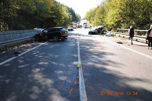 Wypadek luksusowych aut na Słowacji. Są nowe informacje o zatrzymanych polskich kierowcach