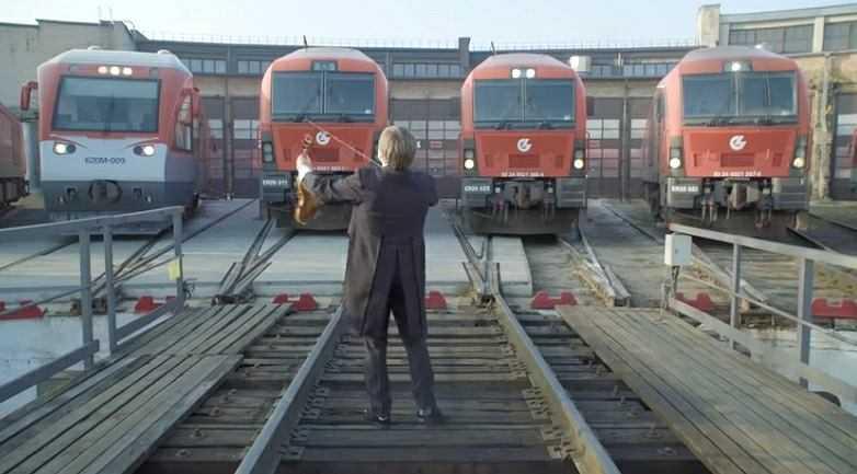 Litewskie lokomotywy zagrały hymn Polski. Tak nasi sąsiedzi uczcili 100. rocznicę odzyskania niepodległości