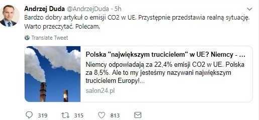 Andrzej Duda poleca kontrowersyjny artykuł. Następnie usuwa go z Twittera