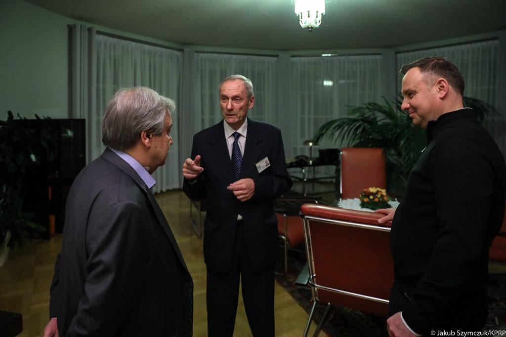 Prezydent Duda zaskoczył strojem na spotkaniu z szefem ONZ. Marynarka w góralskie wzory