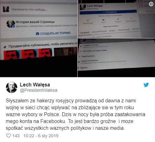 Ktoś zaatakował konto Wałęsy! Prezydent wskazał winnych