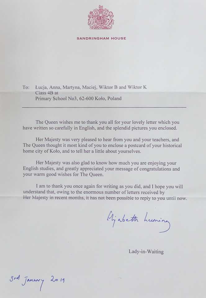 Napisała do nas królowa