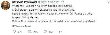 Pawłowicz atakuje nową partię Biedronia. Mocno odleciała