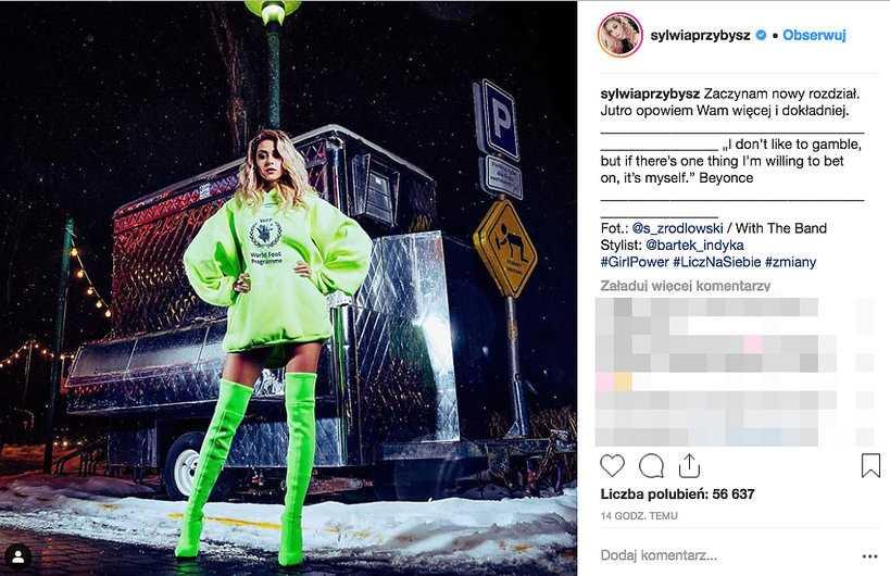 Sylwia Przybysz komentuje zakończenie współpracy z wytwórnią