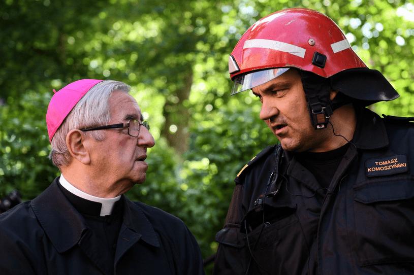 Gdańsk: Pożar kościoła św. Piotra i Pawła