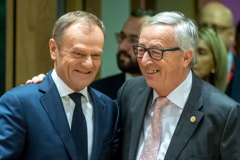 Juncker porównał się do Tuska. Ironiczny komentarz wywołał śmiech