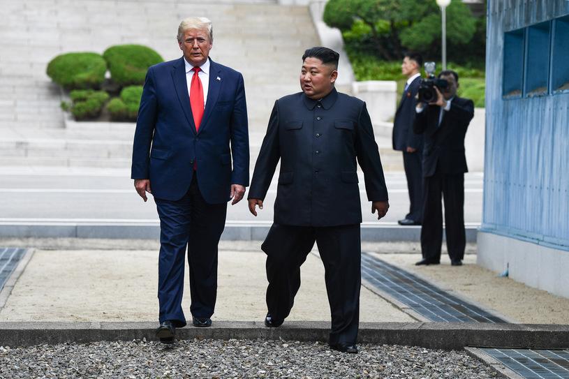 Trump przekroczył granicę z Koreą Północną