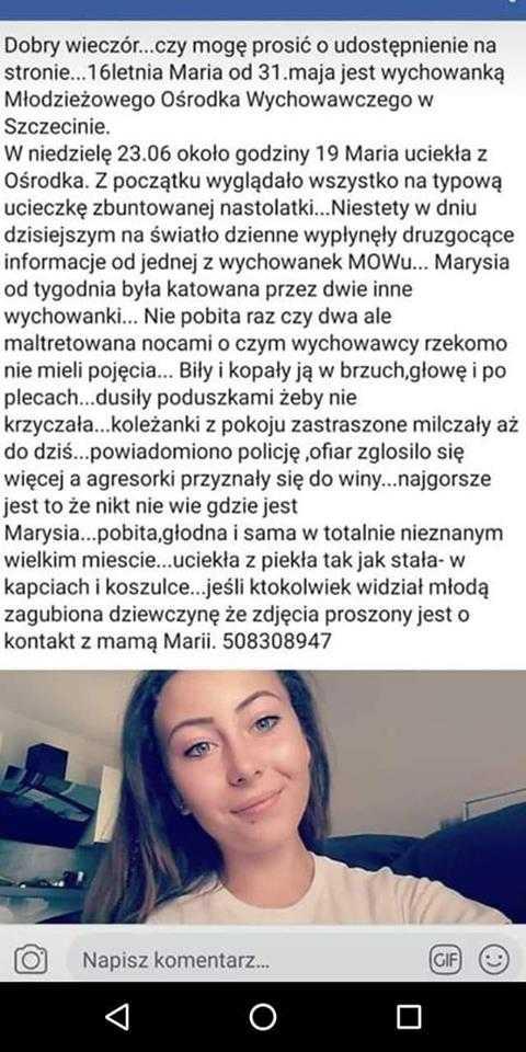 Polacy szukają Marysi. Uciekła, prawdopodobnie z powodu swojego wyglądu