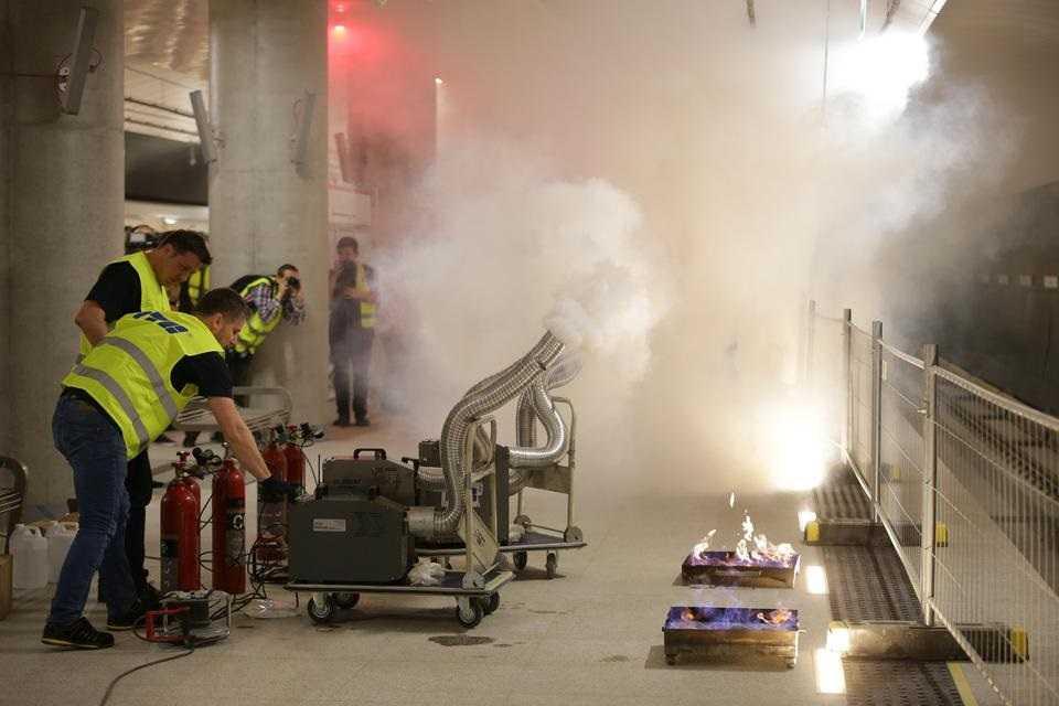 Wielki dym w metrze