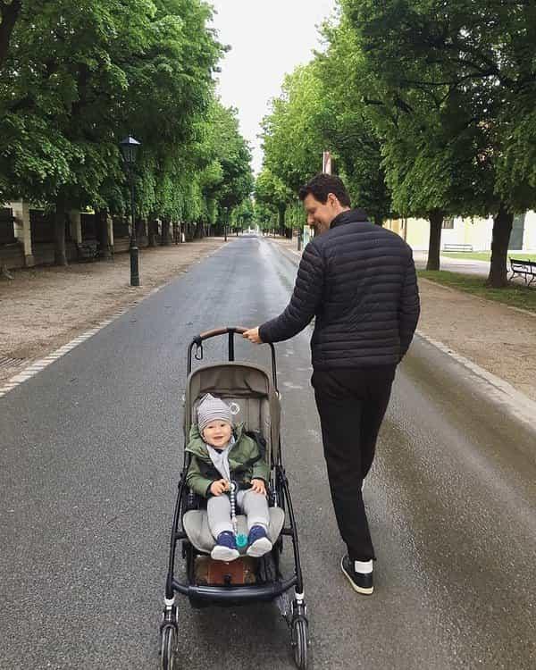 Sasha Knezevic, były mąż Anji Rubik, to tata na medal