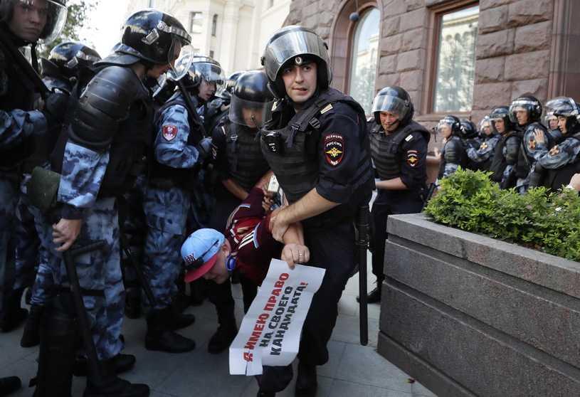 Polskie MSZ reaguje na masowe zatrzymania w Moskwie