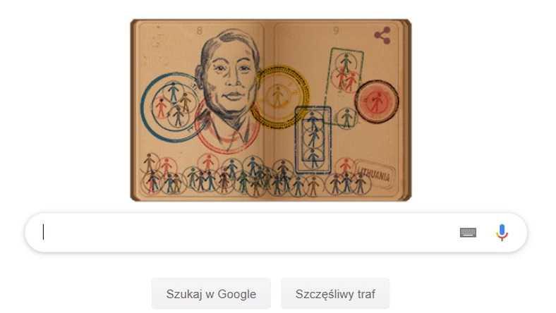Chiune Sugihara. Japoński Schindler w Google Doodle
