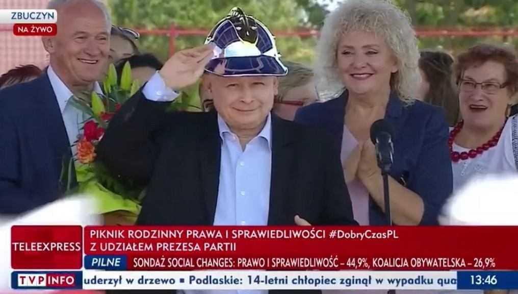Jarosław Kaczyński na pikniku PiS w Zbuczynie