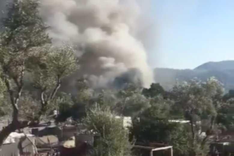 Grecka wyspa Lesbos w ogniu. Imigranci podpalili ośrodek, w którym udzielano im pomocy