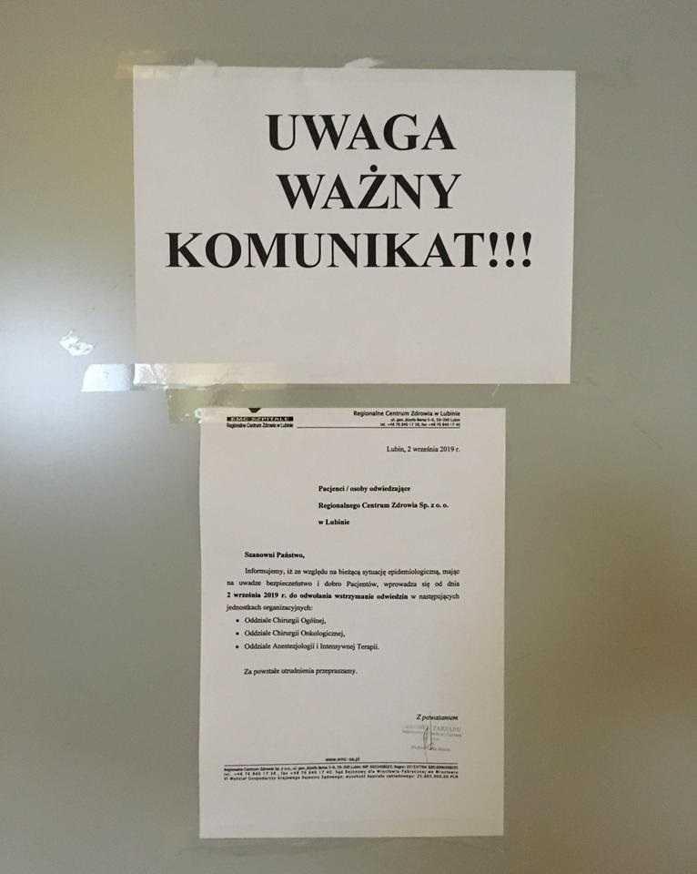 Groźna bakteria w lubińskim szpitalu! Pracownicy przerażeni