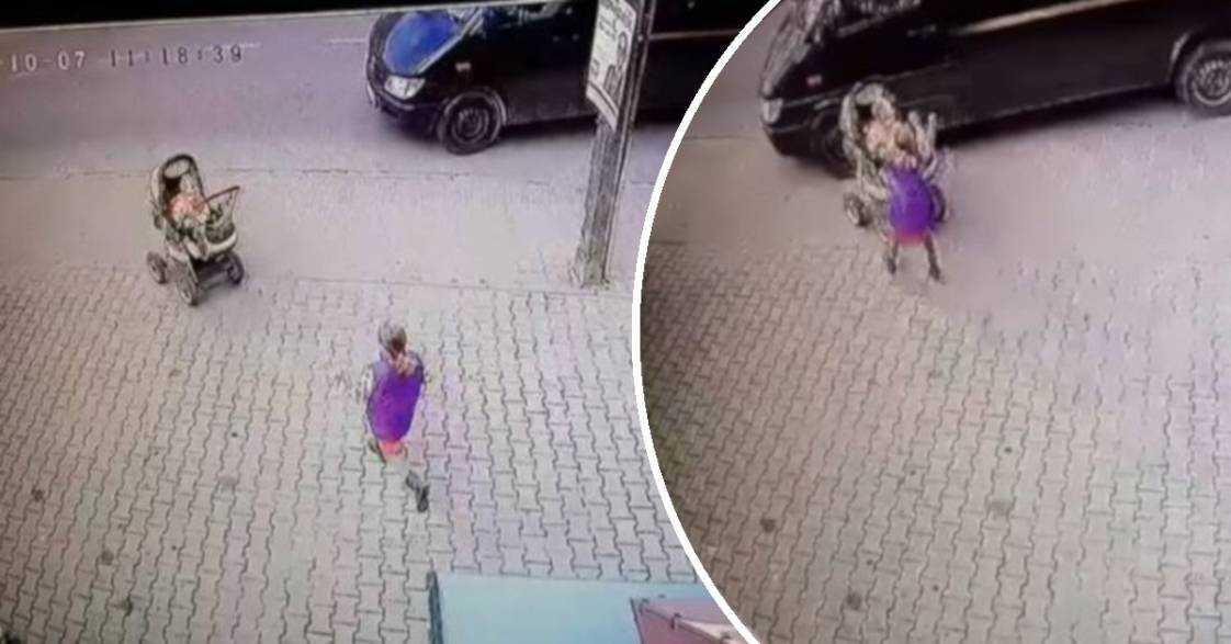 Mrożące krew w żyłach zdarzenie w Szczecinku. Wózek z maluszkiem staczał się na ruchliwą drogę