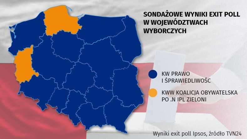 Wyniki wyborów 2019. Jak głosowano w poszczególnych województwach?