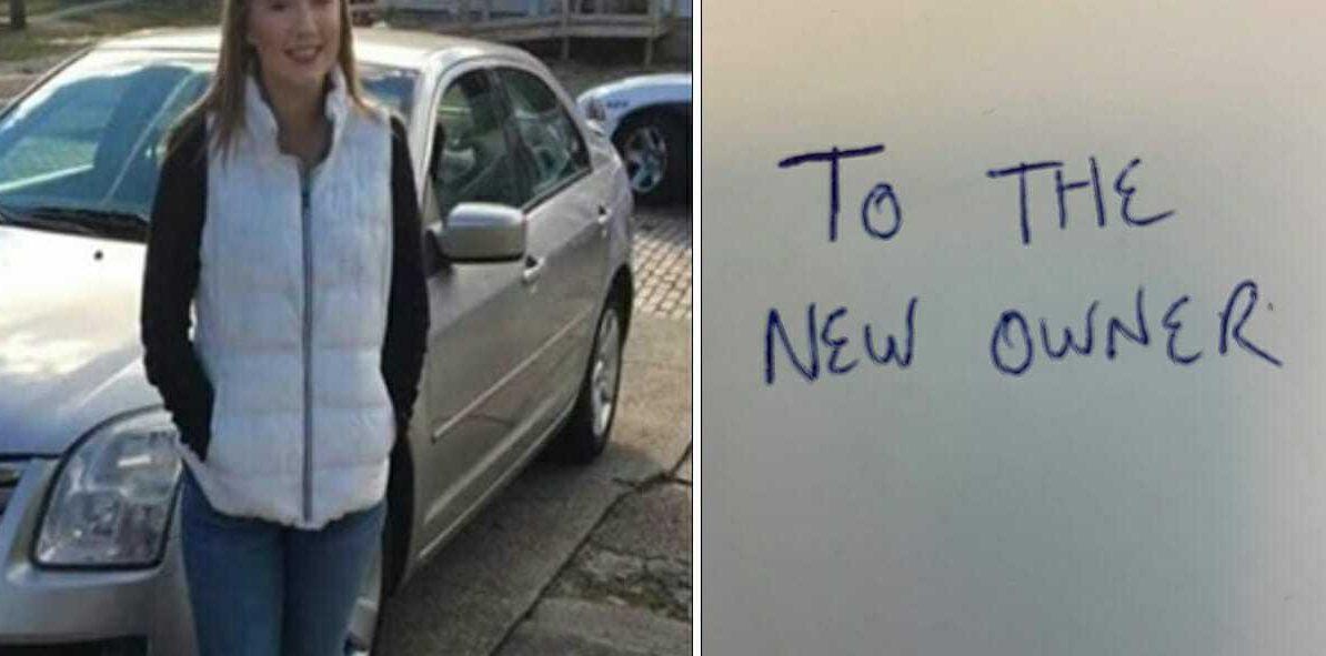 Mężczyzna kupuje córce na 16 urodziny używany samochód – w schowku znajduje zaadresowany do niego list