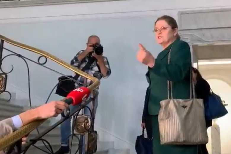 Ostatnia groźba Pawłowicz. Tak pożegnała się z dziennikarzami w Sejmie