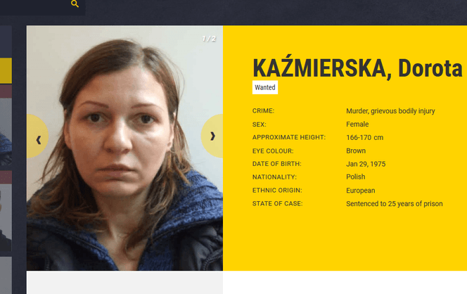 Europa szuka groźnej Polki. Zabiła i nie wróciła do aresztu