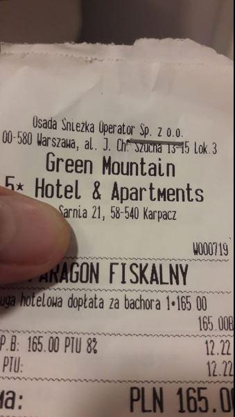 Rachunek za hotel w Karpaczu. Kobieta przyjrzała mu się bliżej i zaniemówiła, gdy odkryła jeden szczegół