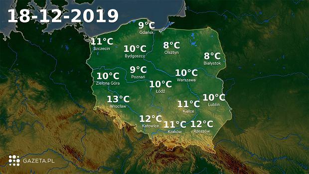 Pogoda na dziś - środa 18 grudnia. Dużo rozpogodzeń w całej Polsce