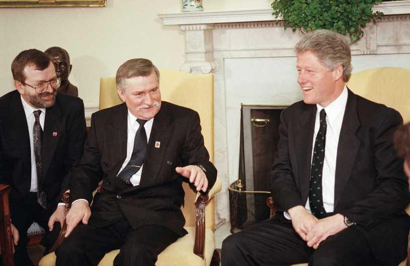 Odtajniono rozmowę Lecha Wałęsy i Billa Clintona z 1993 roku