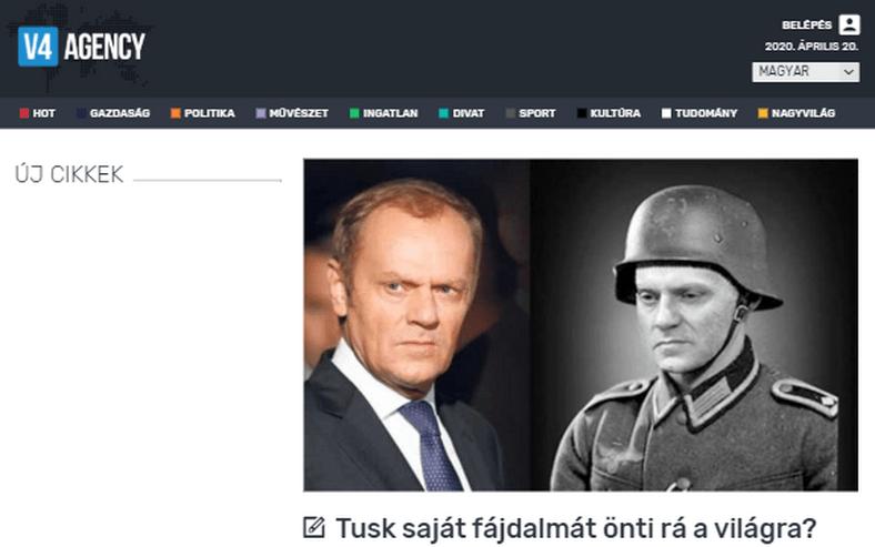 Węgry: Tusk zaatakował Orbana. Prorządowe media publikują teksty o dziadku z Wehrmachtu