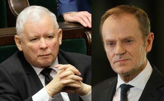 Donald Tusk wygrywa z Jarosławem Kaczyńskim. Kto ich goni?