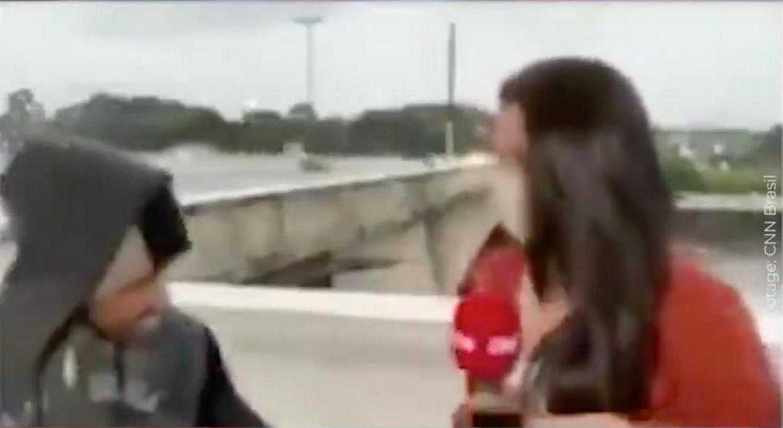 Przerażające nagranie! Reporterka niczego się nie spodziewała