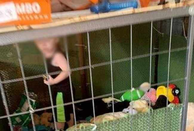 Policja przyjechała ratować psy. W jednej z klatek znaleźli 1,5 roczne dziecko, niestety to nie wszystko