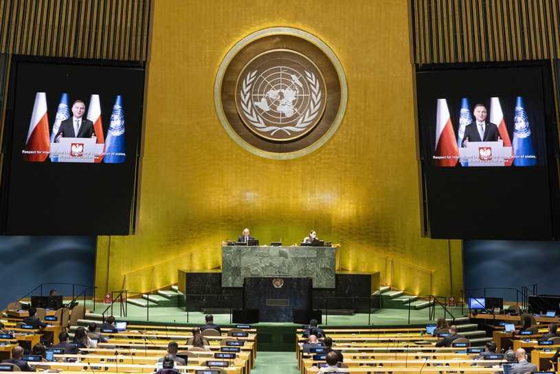 """Wyjątkowa debata na forum ONZ. Andrzej Duda apeluje o współtworzenie idei """"globalnej solidarności"""""""