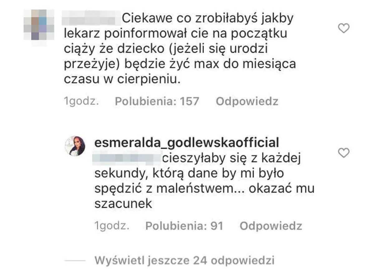 """Esmeralda Godlewska murem za TK. """"To Bóg powinien decydować o tym kogo zabiera"""""""