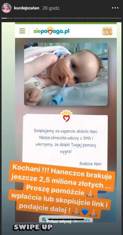 Barbara Kurdej-Szatan błaga o pomoc. Straszna choroba dziecka, liczy się każda minuta