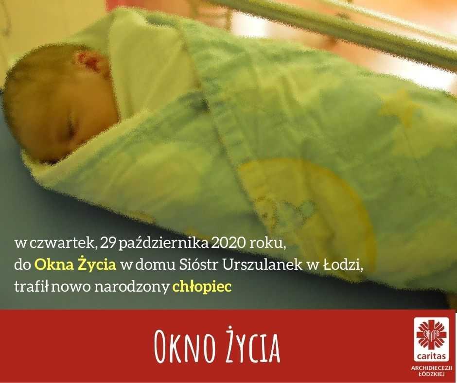 Znaleziono noworodka w Oknie Życia. Chłopiec był nagi, zawinięty w koc