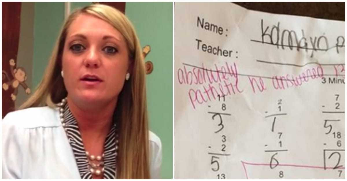 """Nauczycielka napisała """"bardzo żałosne"""" na sprawdzianie z matematyki 7-latka"""