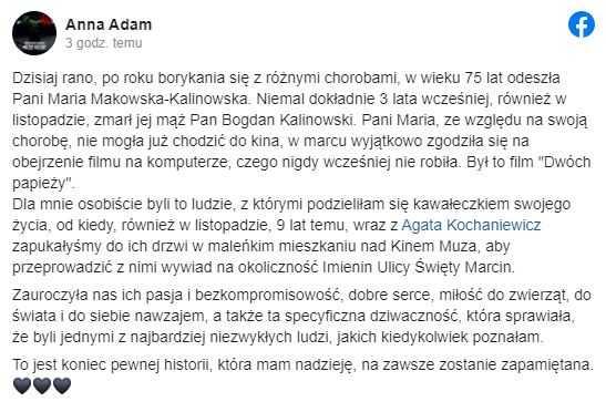 Polskie media potwierdziły tragiczną wiadomość. Nie żyje uwielbiana Polka