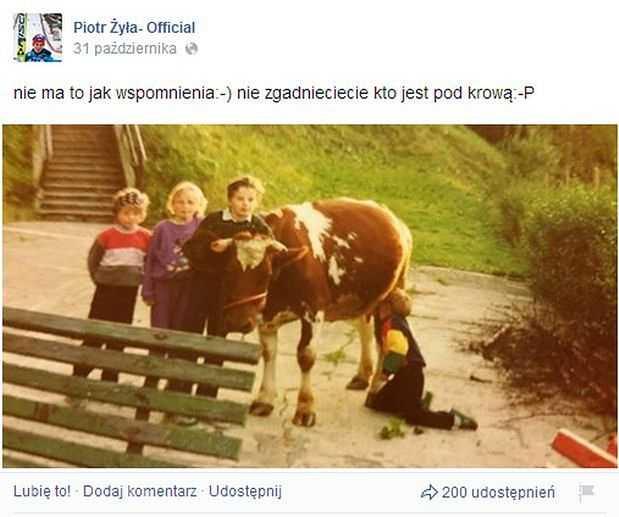 Do sieci trafiło zdjęcie Piotra Żyły z prywatnej galerii. Fani zdębieli na widok klęczącego chłopaka, co on wyprawia?