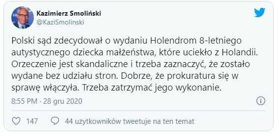 """""""Skandaliczna decyzja polskiego sądu"""". Sąd zdecydował o wydaniu dziecka Holendrom"""