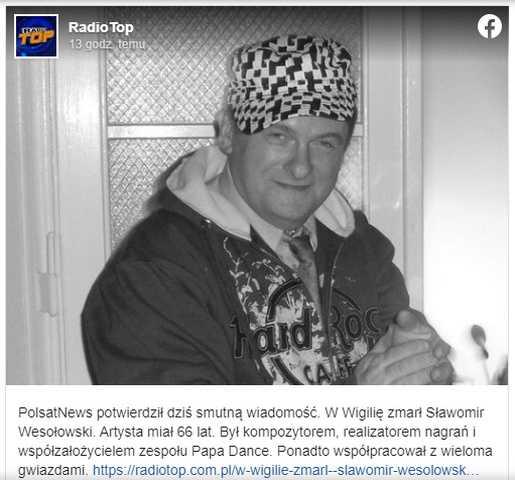 Polsat potwierdził tragiczną wiadomość. Nie żyje Sławomir Wesołowski, zmarł w Wigilię