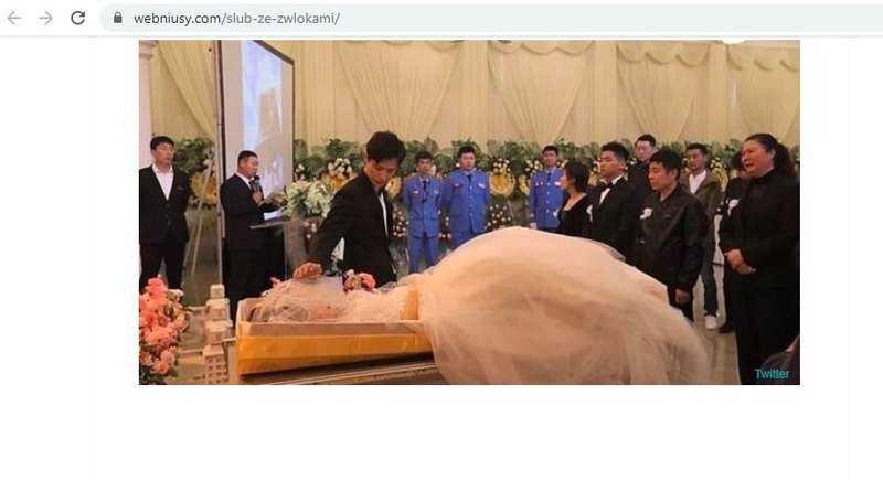 35-latek ożenił się ze zwłokami ukochanej. Zdjęcia ze ślubu mrożą krew w żyłach