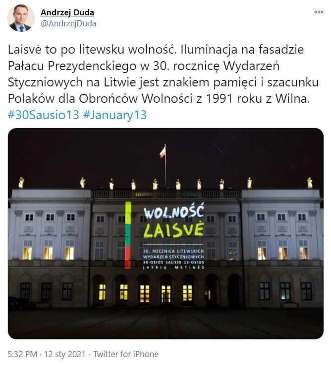 Na Pałacu Prezydenckim pojawiły się dziwne napisy. Andrzej Duda od razu zareagował