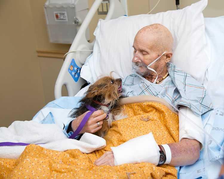 Ciężko chory mężczyzna w hospicjum miał tylko jedno życzenie. Chciał ostatni raz zobaczyć swojego ukochanego psa