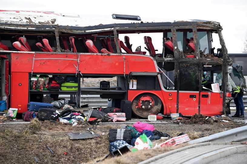 Podkarpackie: Wypadek autokaru na A4. 24 podróżnych wróciło na Ukrainę