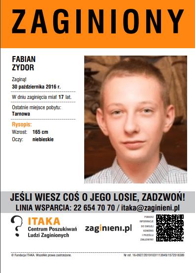 17-letni Fabian wracał z imprezy koło godziny 23. Ślad po nim zaginął