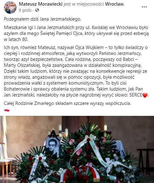 Mateusz Morawiecki w żałobie. Zmarła bliska mu osoba