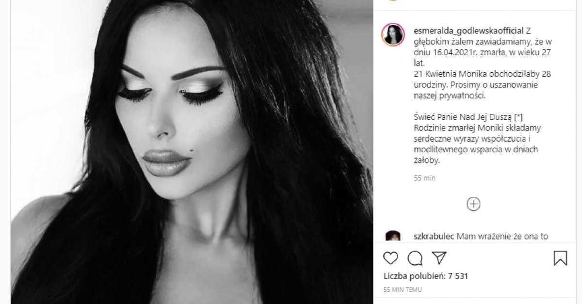 Esmeralda Godlewska nie żyje?! Szokujący wpis na profilu celebrytki