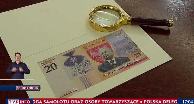 Wiemy, jak będzie wyglądać 20 zł z Lechem Kaczyńskim. Prezes NBP ujawnił wizualizacje